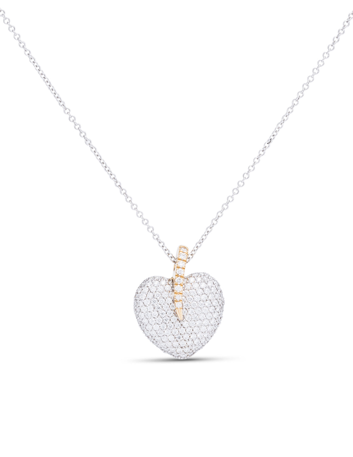 Two-Tone Heart Pendant - Charles Koll Jewellers