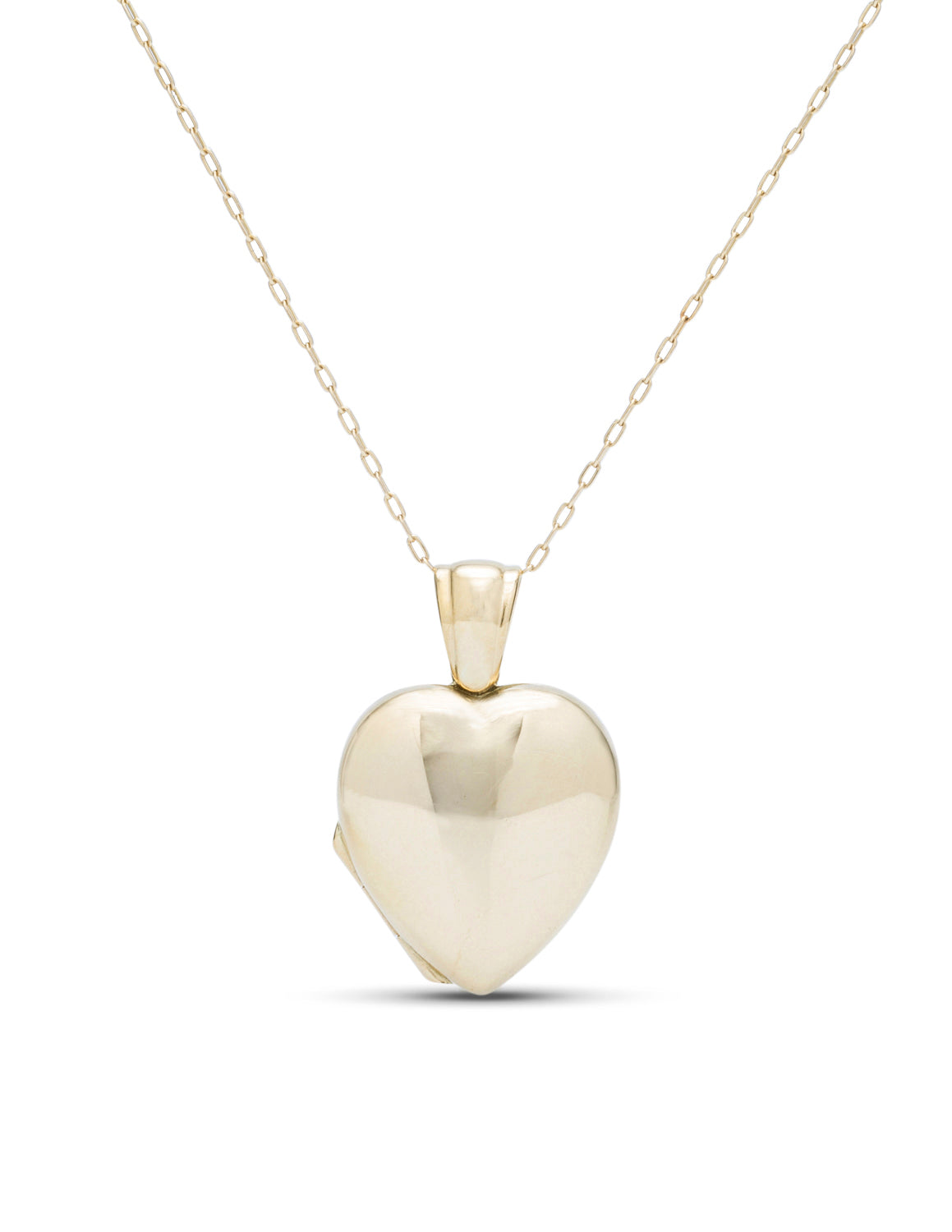 18K Yellow Gold Heart Locket Pendant - Charles Koll Jewellers