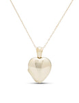 18K Yellow Gold Heart Locket Pendant