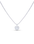 Bezel Set Diamond Solitaire Pendant - Charles Koll Jewellers