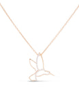Diamond and Rose Gold Hummingbird Pendant - Charles Koll Jewellers