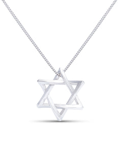 White Gold Star of David Pendant - Charles Koll Jewellers