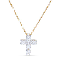 Yellow Gold Diamond Cross Pendant - Charles Koll Jewellers