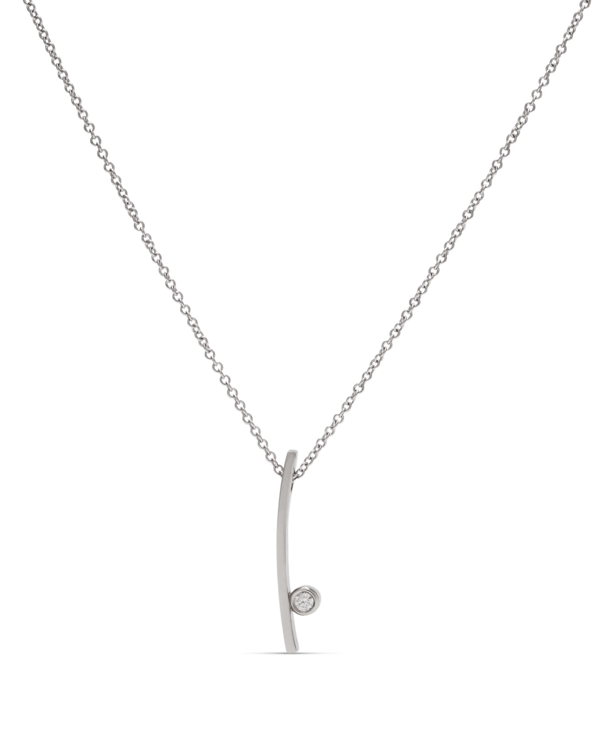 19k & 18k White Gold Diamond Pendant - Charles Koll Jewellers
