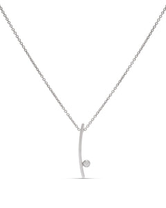 18k White Gold Diamond Pendant - Charles Koll Jewellers
