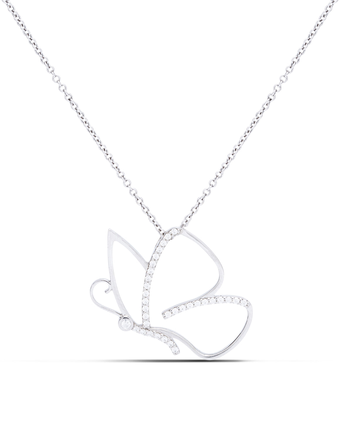 Diamond Butterfly Pendant - Charles Koll Jewellers