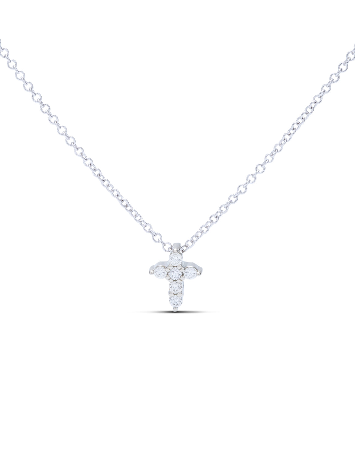 White Gold Diamond Cross Pendant - Charles Koll Jewellers