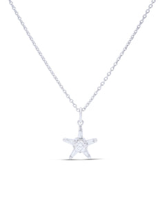 Diamond Star Pendant - Charles Koll Jewellers