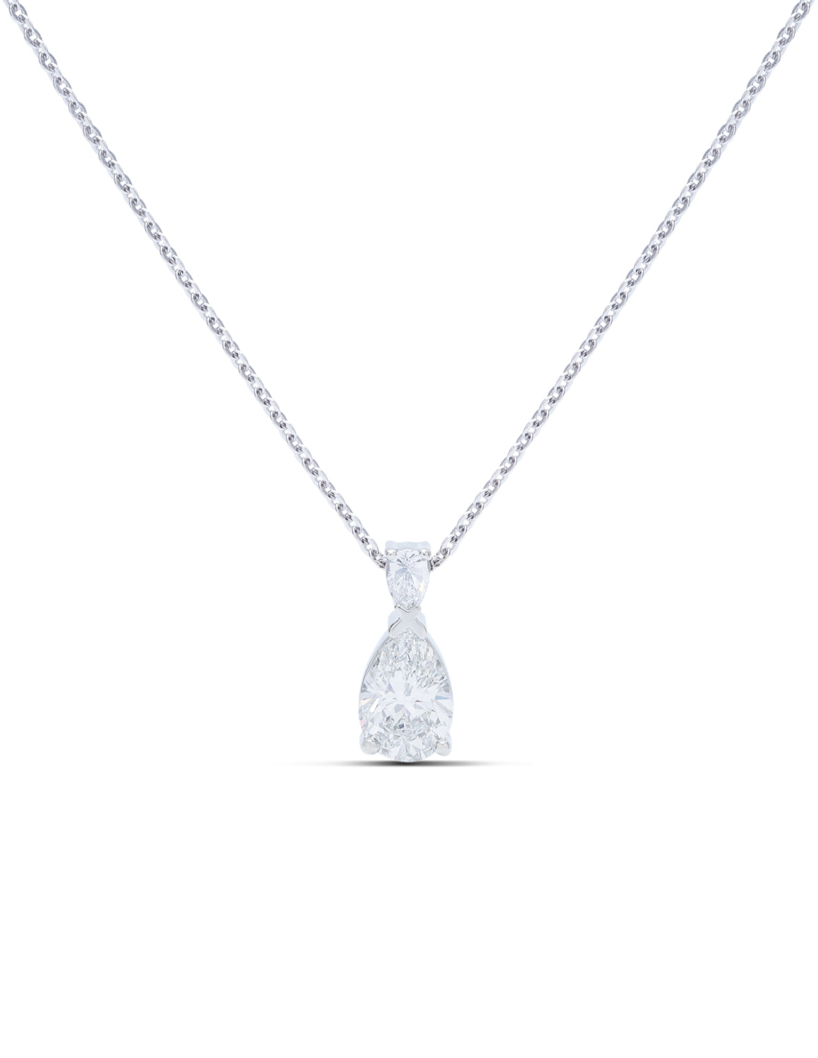 Pear Diamond Pendant - Charles Koll Jewellers