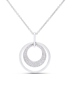 Double Circle Diamond Pendant - Charles Koll Jewellers