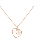 Rose Gold Heart With Dancing Diamond - Charles Koll Jewellers