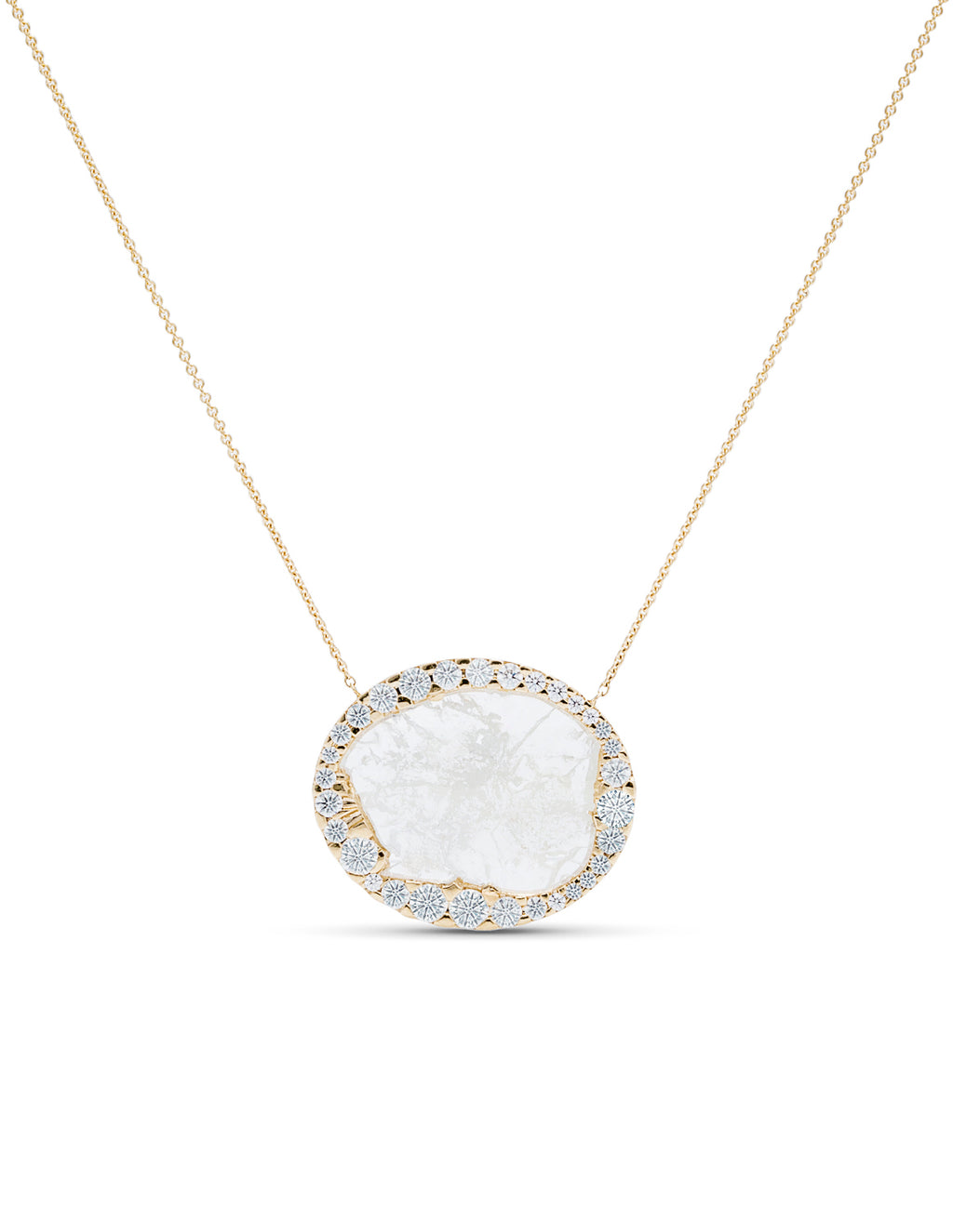Diamond Slice Halo Pendant - Charles Koll Jewellers