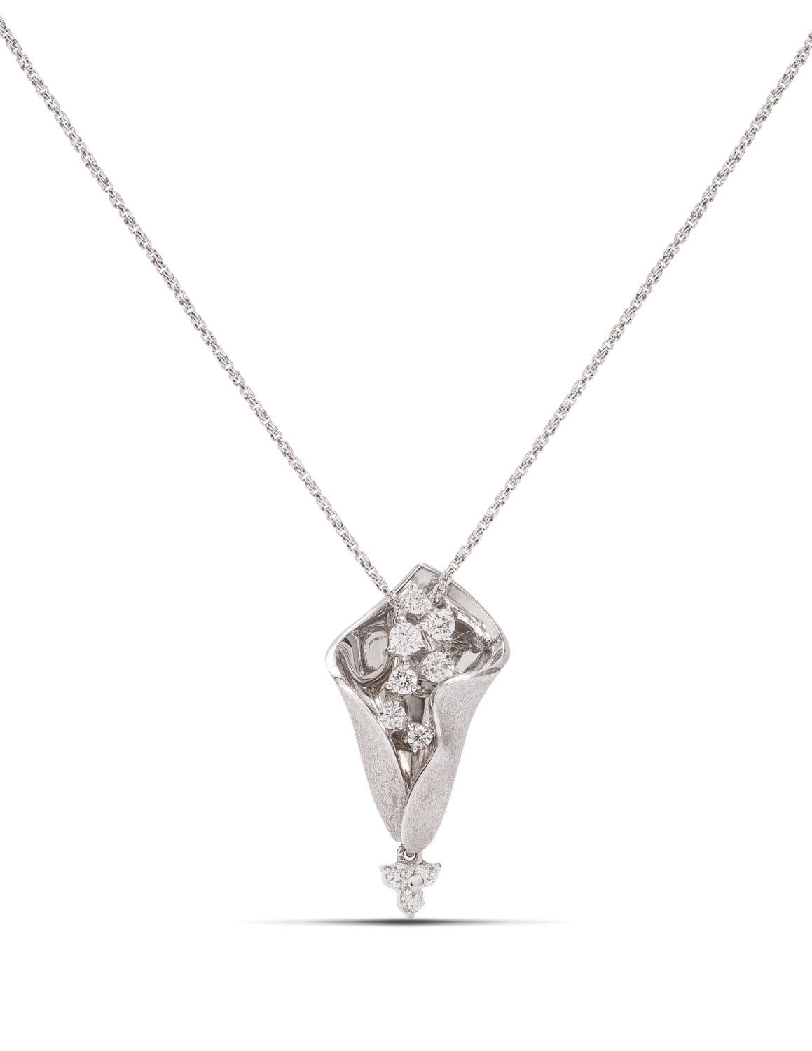 White Gold Diamond Pendant - Charles Koll Jewellers