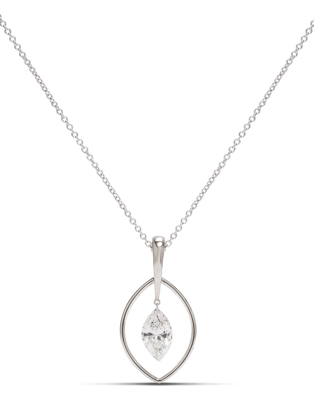 0.68ct Marquise Cut Dancing Diamond Pendant - Charles Koll Jewellers
