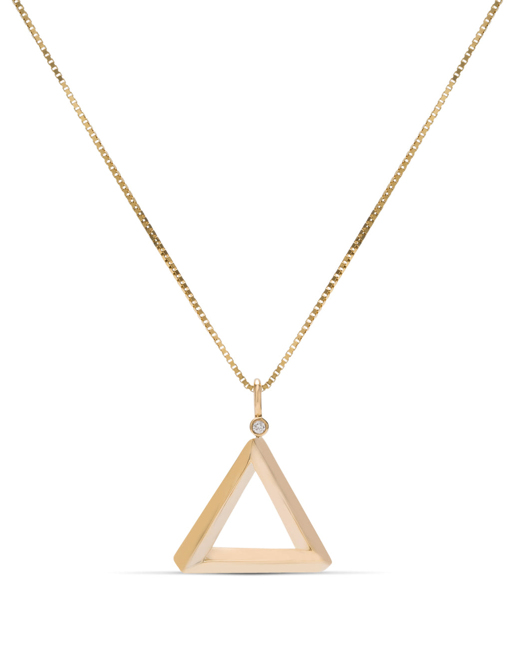 Yellow Gold Penrose Triangle Pendant - Charles Koll Jewellers