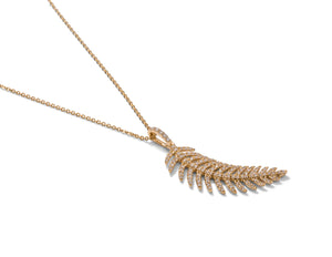 Diamond Feather Pendant - Charles Koll Jewellers