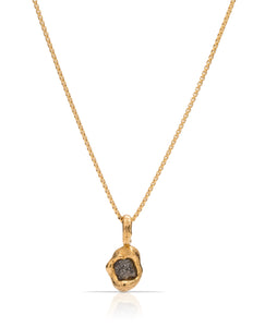 18K Gold Rough Diamond Pendant