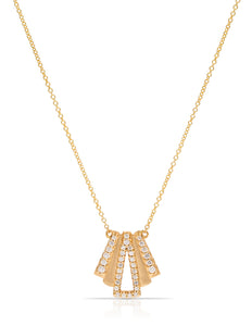 18K Gold 34 Diamond Layered Necklace