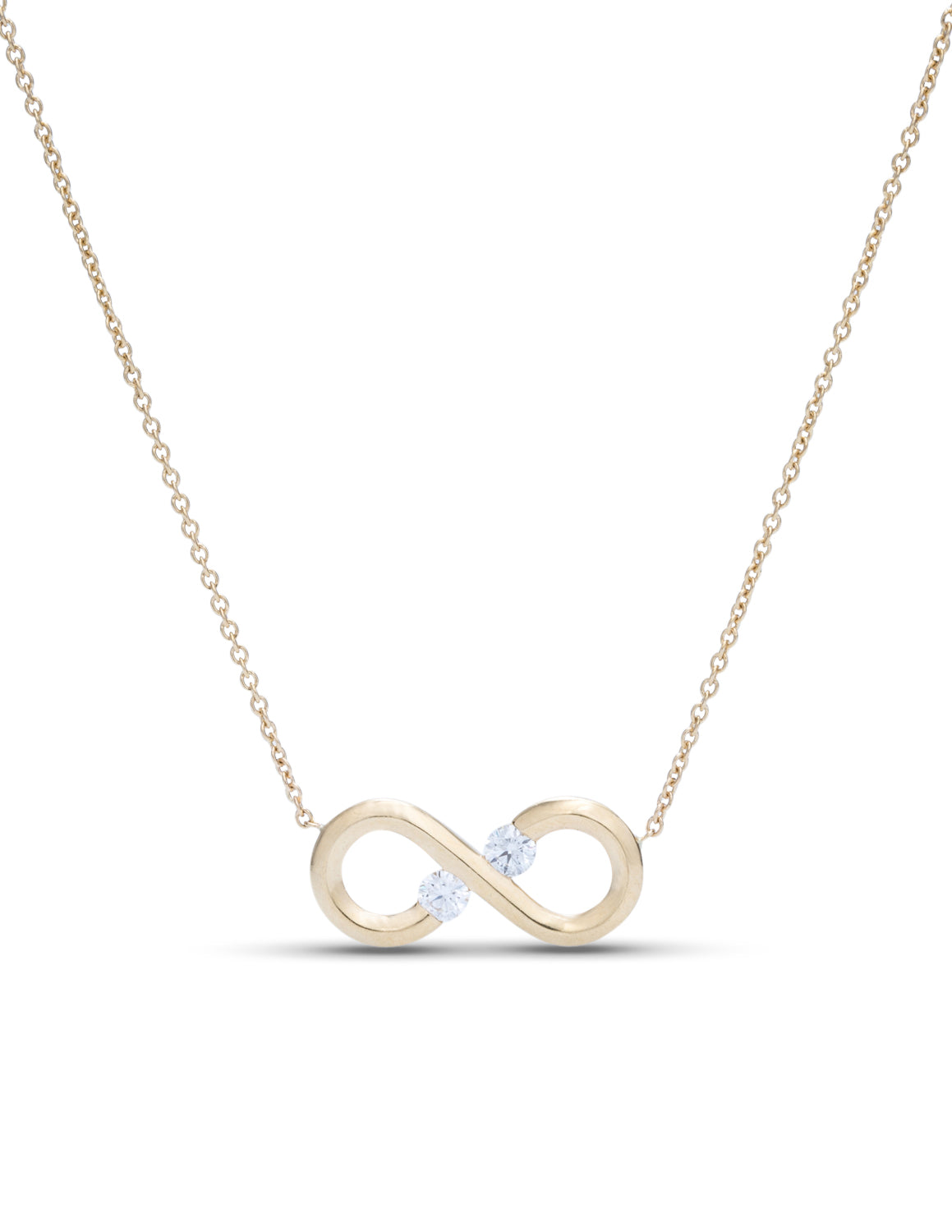 Yellow Gold Infinity Necklace - Charles Koll Jewellers
