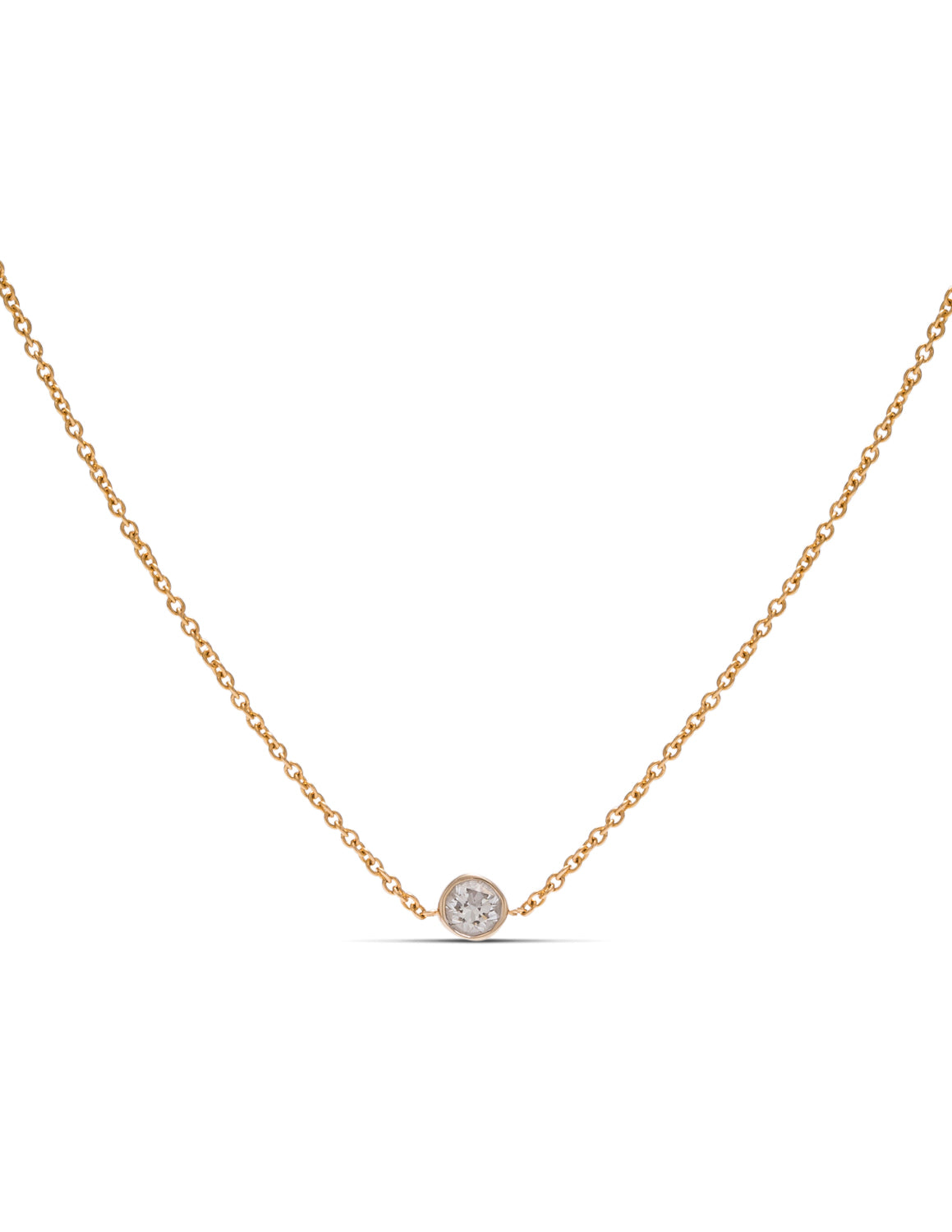 Bezel Set Diamond Solitaire Necklace - Charles Koll Jewellers