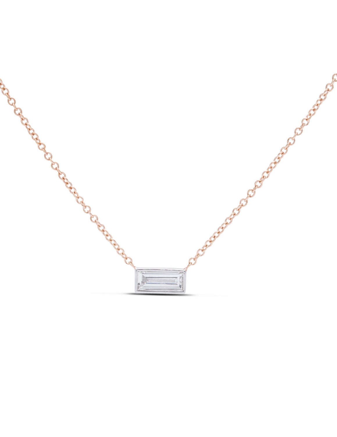 Bezel Set Diamond Necklace - Charles Koll Jewellers