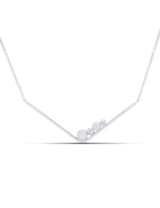 Diamond Gravity Bar Pendant - Charles Koll Jewellers