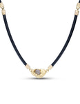 Rough Diamond Set in Yellow Gold Necklace - Charles Koll Jewellers