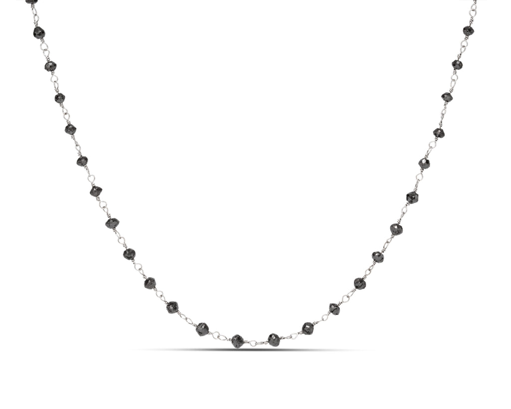 Black Diamond Bead Necklace - Charles Koll Jewellers