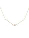 Yellow Gold and Diamond Gravity Bar Necklace - Charles Koll Jewellers