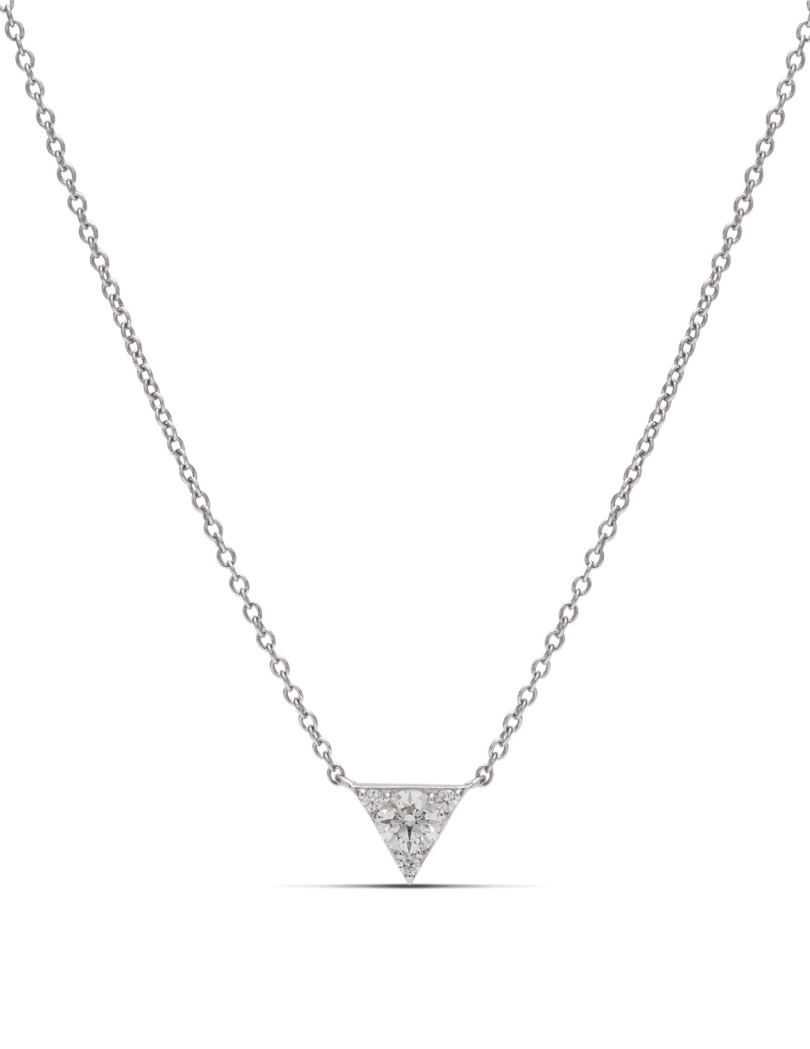 Hearts On Fire Triplicity Triangle Necklace - Charles Koll Jewellers