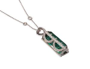 20.97ct Tourmaline and Diamond Pendant