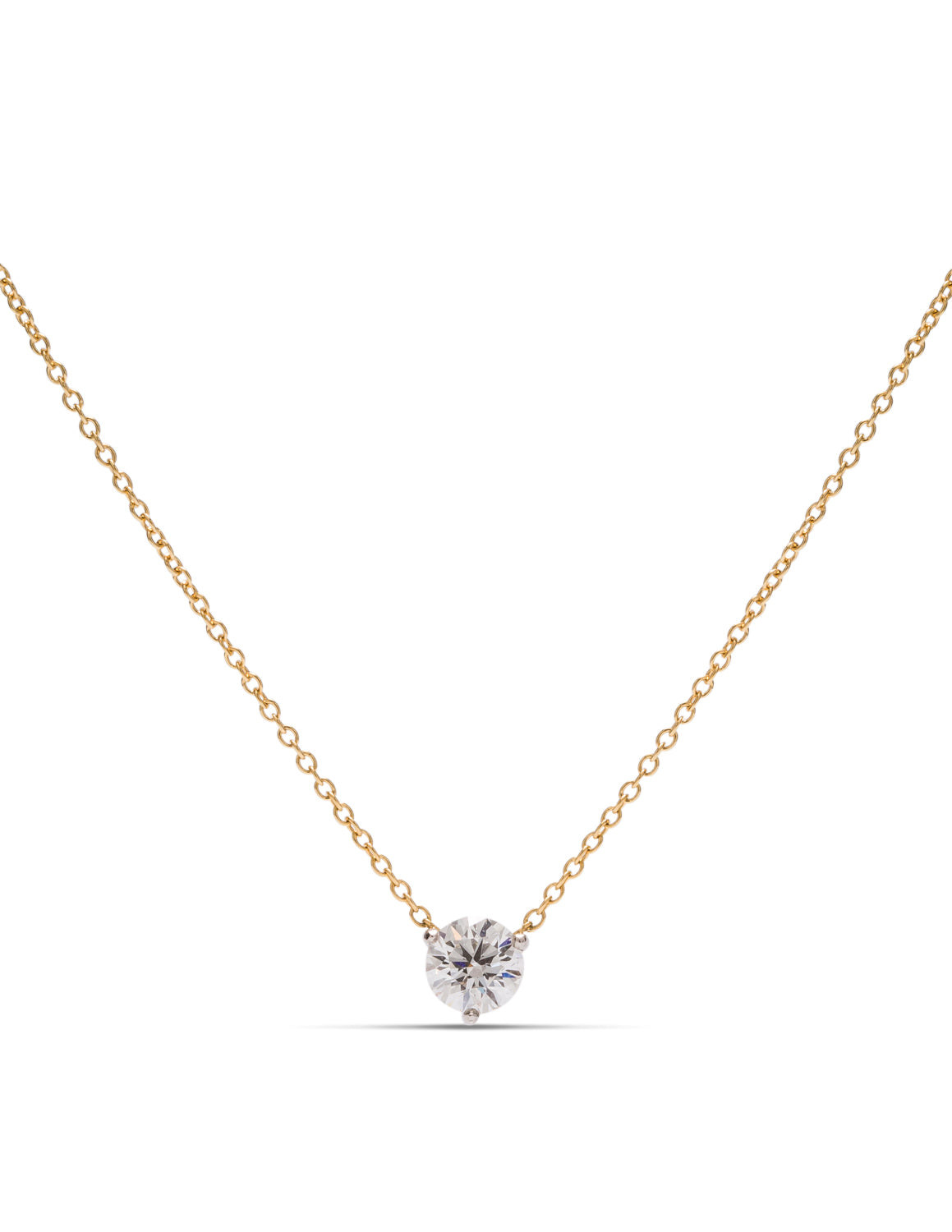 18k Gold & Platinum Hearts on Fire Diamond Necklace - Charles Koll Jewellers