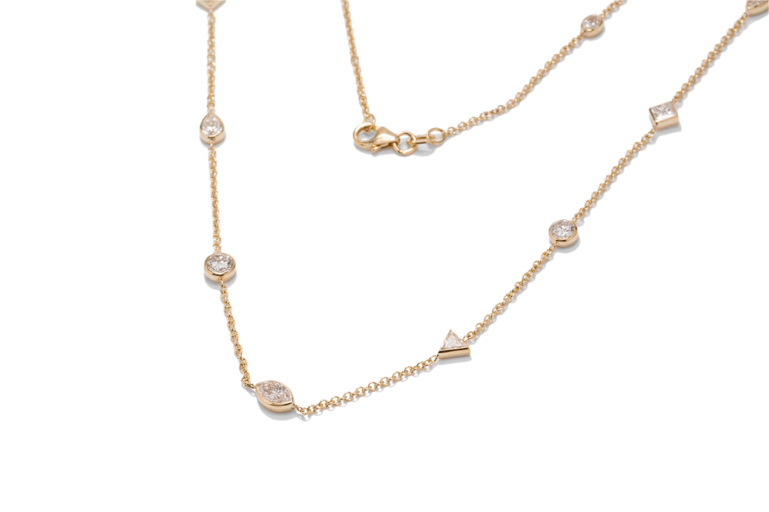 Multi-Shape Diamonds By The Yard Necklace - Charles Koll Jewellers