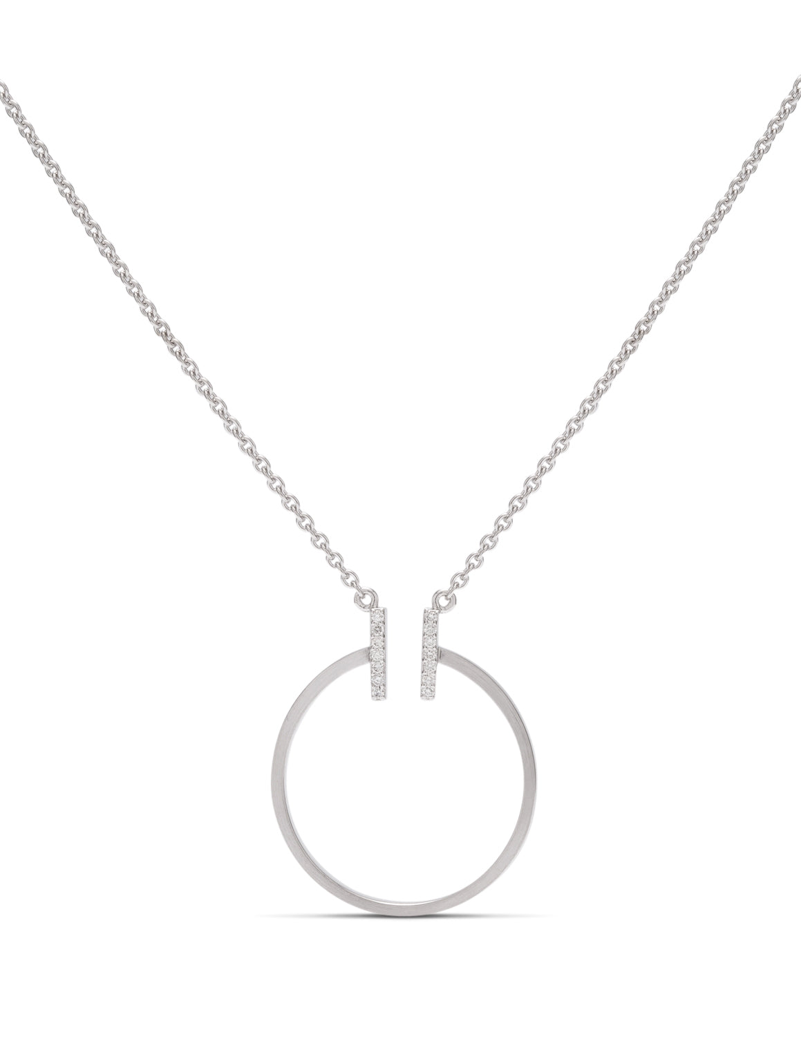 Double Bar Circle Necklace - Charles Koll Jewellers