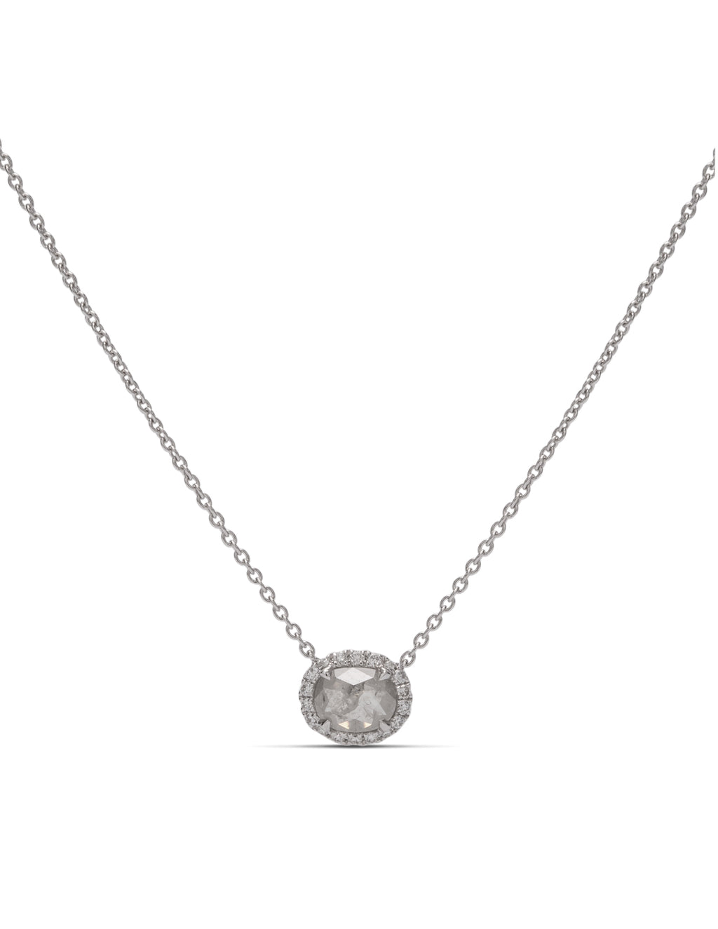 Rough Grey Diamond Necklace - Charles Koll Jewellers
