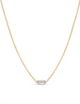 Diamond Baguette Bezel Necklace - Charles Koll Jewellers