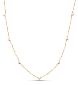 Two-Tone Star Diamond Necklace - Charles Koll Jewellers