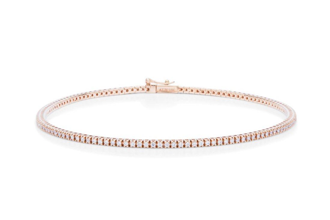 Rose Gold Tennis Bracelet - Charles Koll Jewellers