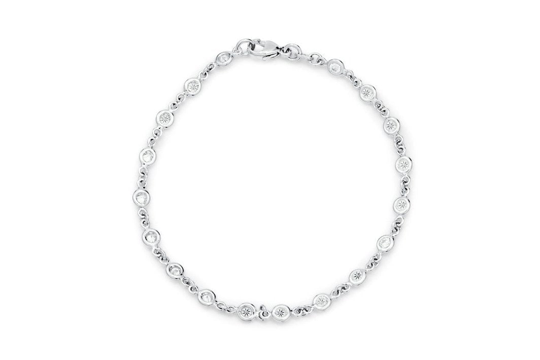 Platinum Diamonds By The Yard Bracelet - Charles Koll Jewellers