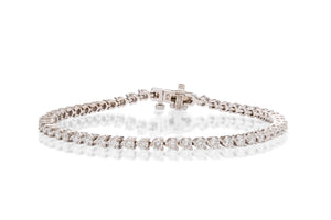 18k White Gold Diamond Tennis Bracelet - Charles Koll Jewellers