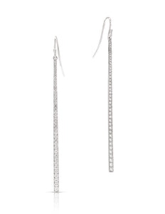 Tapered Diamond Dangle Earrings - Charles Koll Jewellers