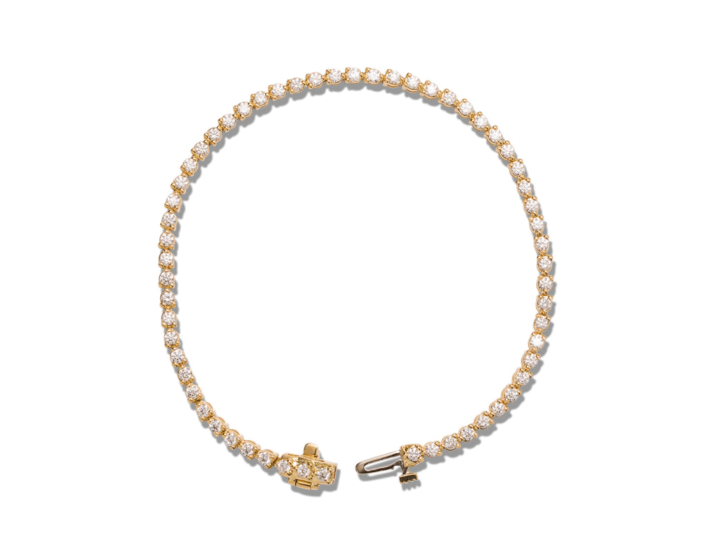 1.90 ctw Diamond Bracelet in Yellow Gold