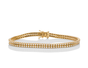 Double Golden Diamond Bracelet - Charles Koll Jewellers
