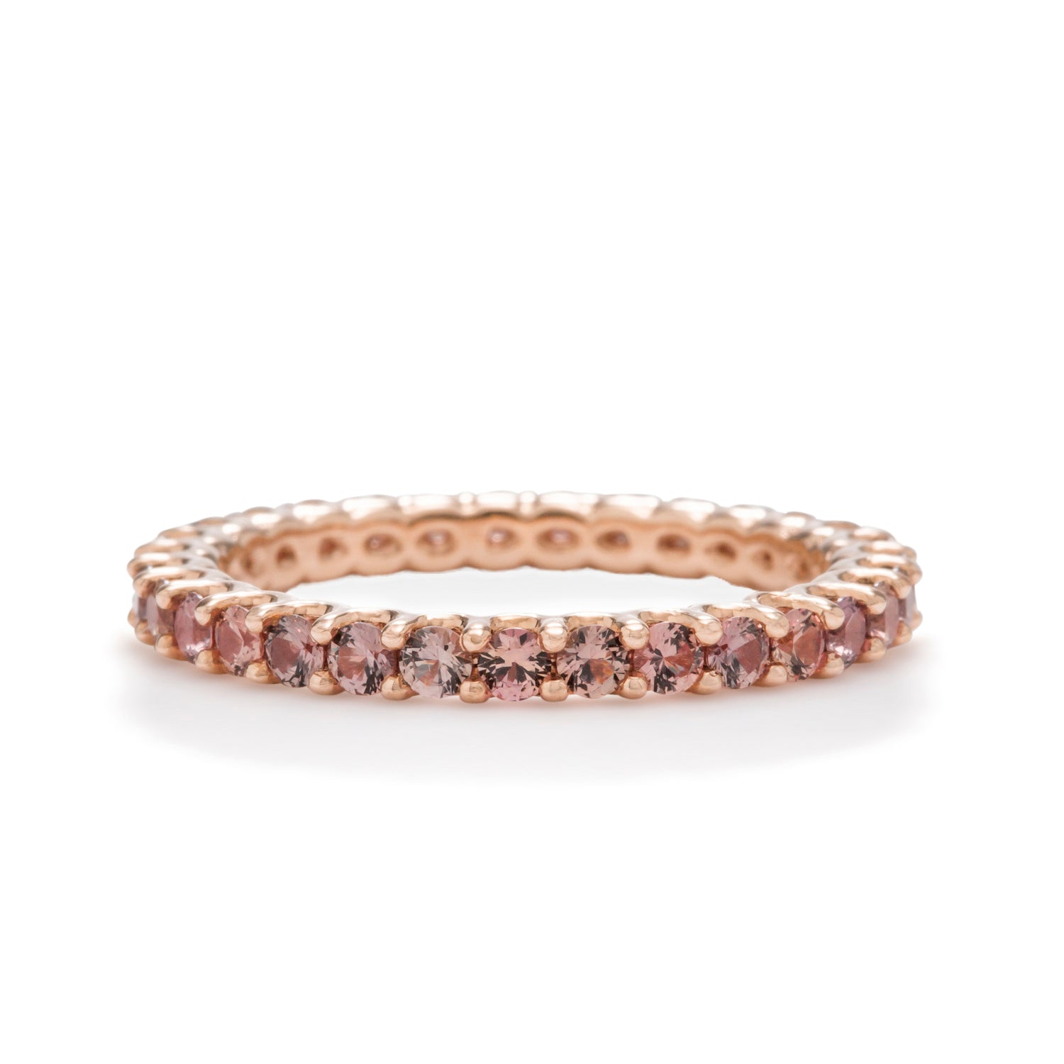 Tri-Color Diamond Eternity Band - Charles Koll Jewellers