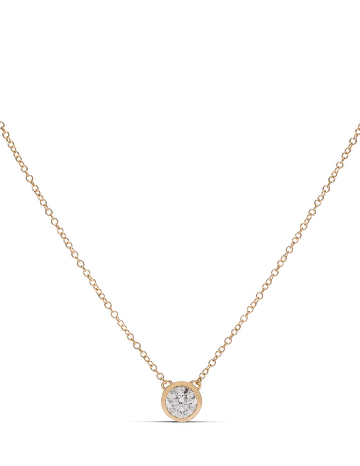 0.51 ct Hearts On Fire Diamond Bezel Necklace - Charles Koll Jewellers