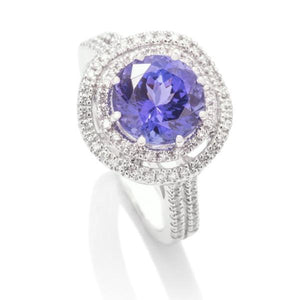 Tanzanite and Diamond Ring - Charles Koll Jewellers