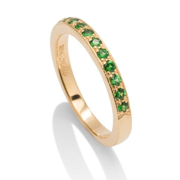Yellow Gold Tsavorite Band - Charles Koll Jewellers