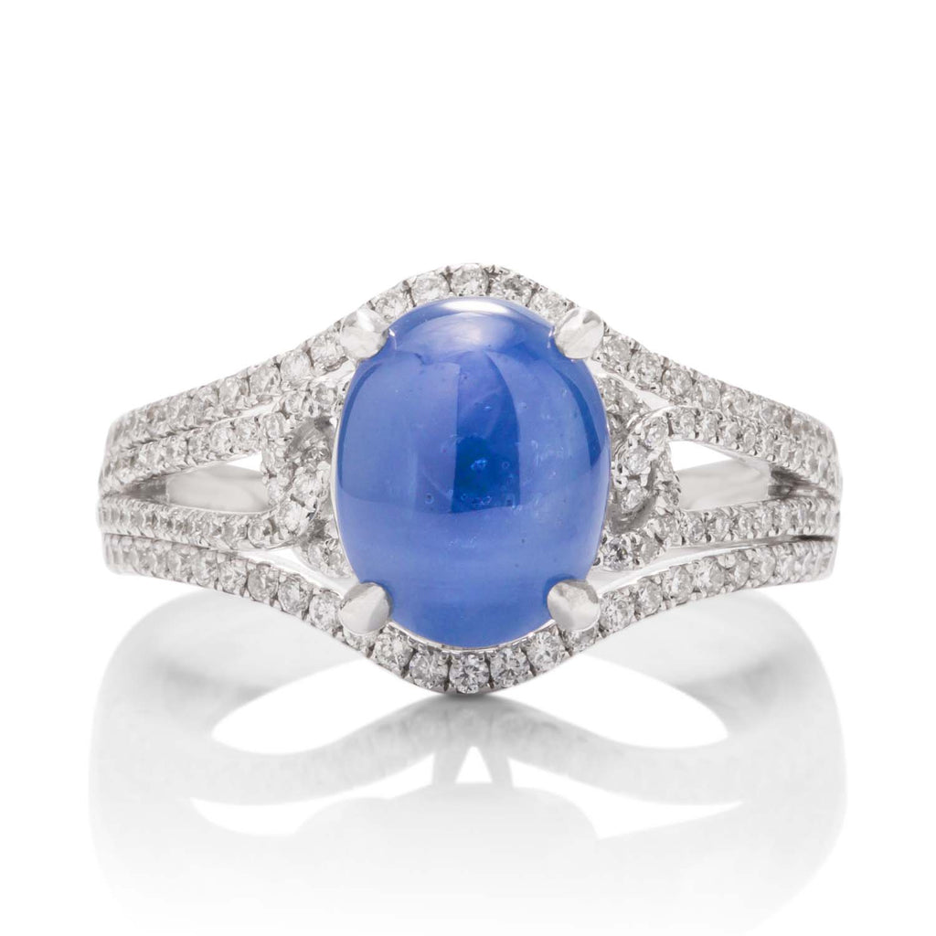 Star Sapphire and Diamond Ring - Charles Koll Jewellers
