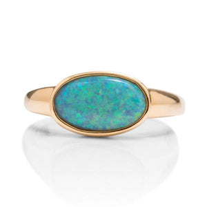 Yellow Gold Opal Ring - Charles Koll Jewellers