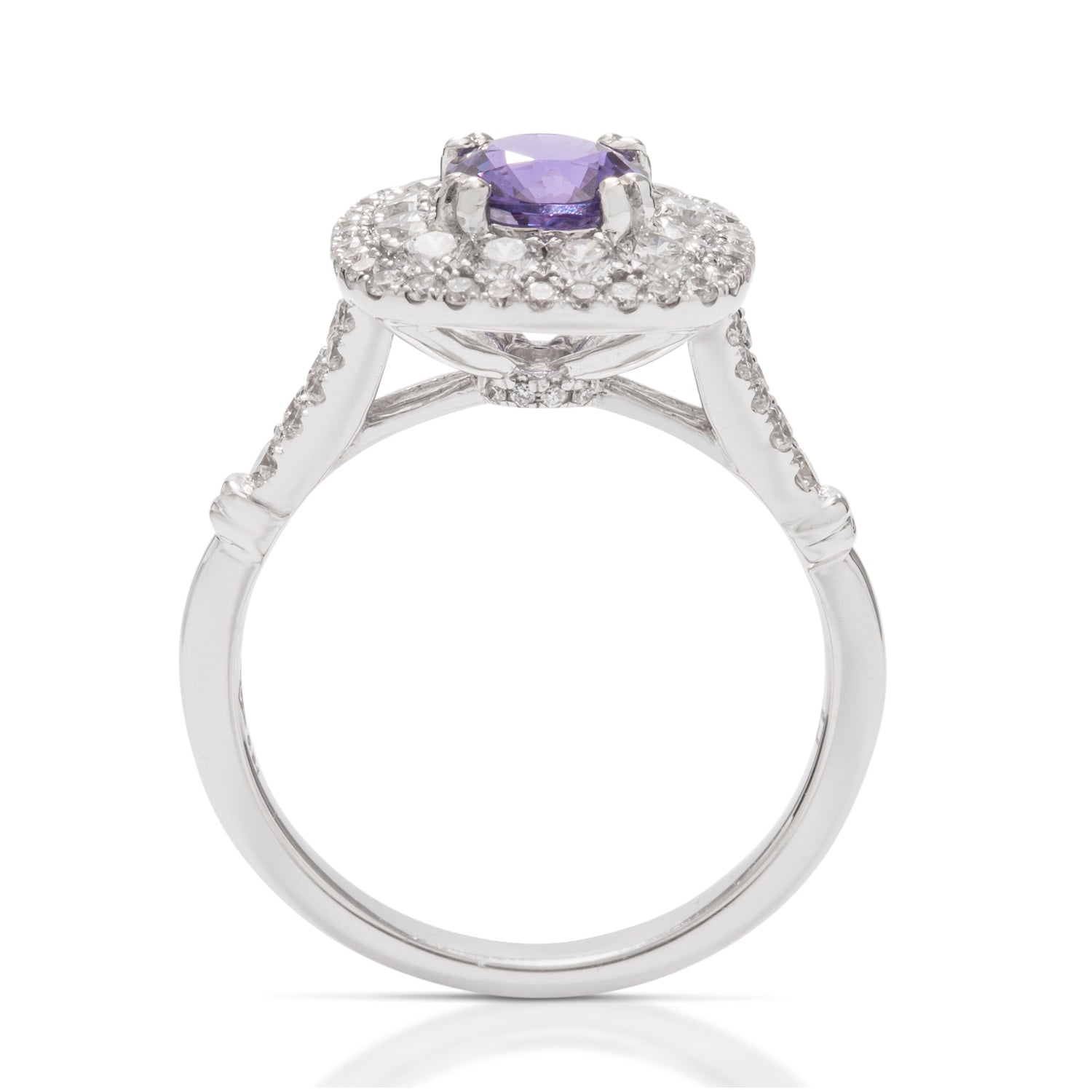 Purple Sapphire and Diamond Ring - Charles Koll Jewellers